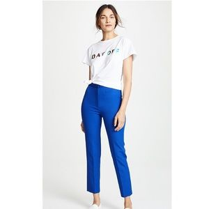Milly Pants - NWT Milly High Waisted Stretch Crepe Pants Cobalt